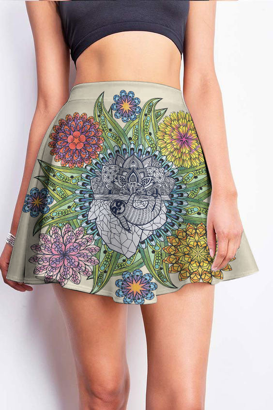 Mandala Art 3D Skirt 02