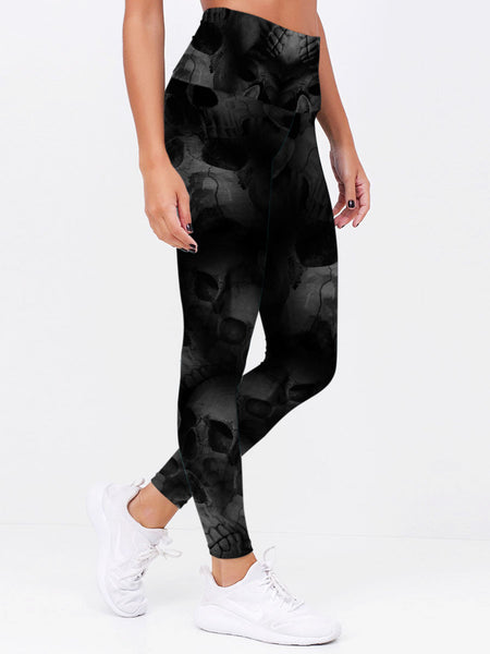 Skull Art Leggings 07 - designfullprint