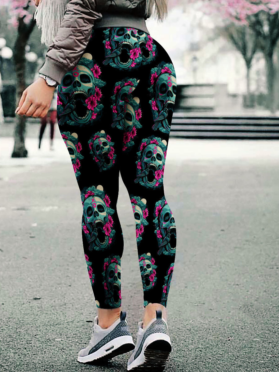 Skull Art Leggings 11 - designfullprint