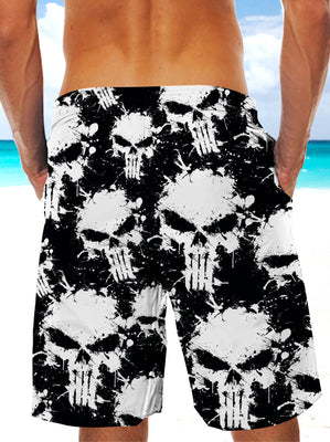 Ultra-light 3D Skull Art-wear Drawstring Shorts for Men 003 - designfullprint