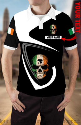 Personalized Polo Irish Skull Shirt