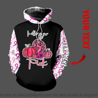 Breast Cancer Pink Pumpkins In October We Wear Pink US Unisex Size Hoodie