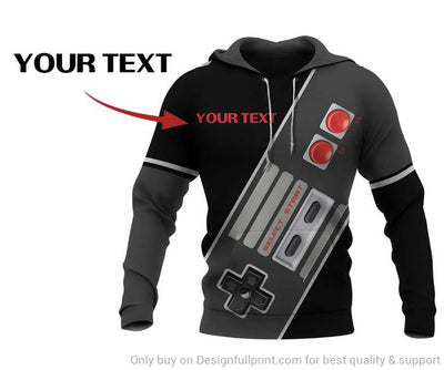 Personalized Retro Game NES Classic Controller Unisex Hoodie LN