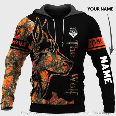 Personalized The Wolf Orange Unisex Hoodie
