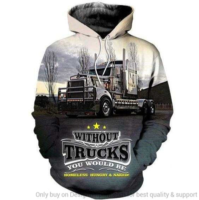 Truck 3D All Over Printed Unisex Hoodie
