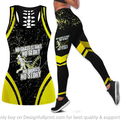 Sport No Grass Stains No Glory No Bruises No Story Tank Top And Leggings Set