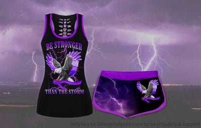 Alzheimer Be Stronger Than The Storm US Eagle Tank and Shorts Set
