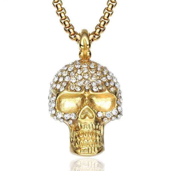 Stainless Steel Skeleton Skull Pendant Necklaces - designfullprint