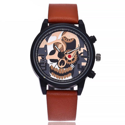 Skeleton Skull Waterproof Sports Watch - designfullprint