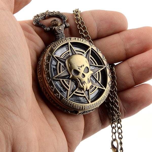 Vintage Skull Pocket Watch
