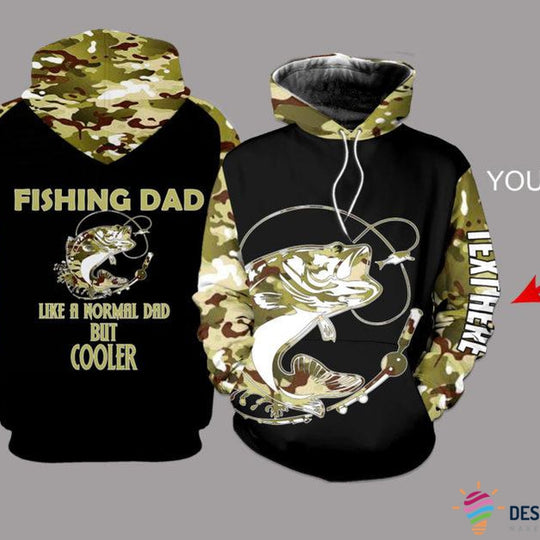 Fishing Dad Walleye Personalized US unisex size hoodie