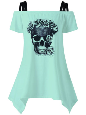 Floral Skull Outfit Shirt