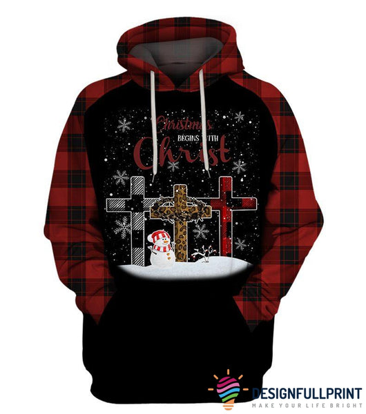 Christmas Begins With Christ Hoodie