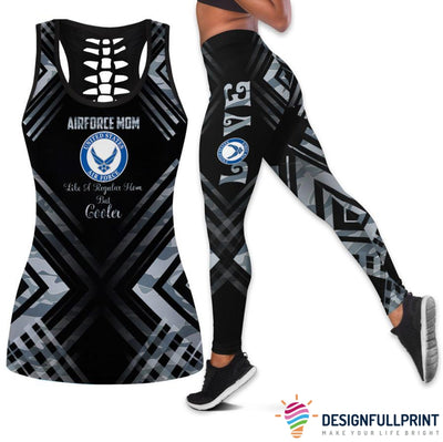 Airforce Mom Tank Top And Legging Set