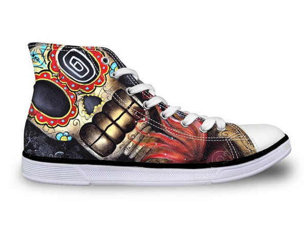 Casual Outdoor Skull Head Print Sneakers