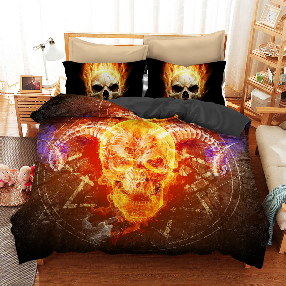 Skull Art Bedding 02 (Duvet Cover and Pillowcases) - designfullprint
