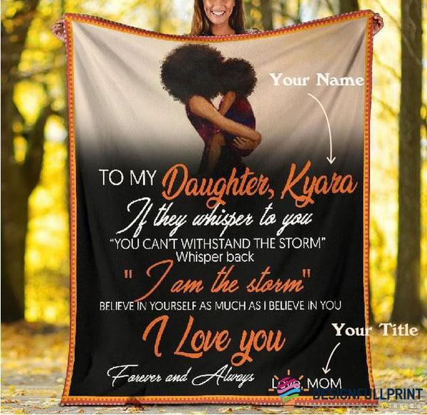 Personalized Black Family Sherpa Premium Blanket