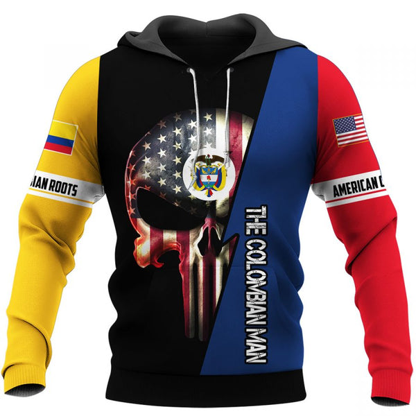 Colombian Skull US Unisex Size Hoodie
