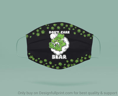 New Glitter Bear With Cannabis Dont Care Bear Mask 3-pack don t care bear