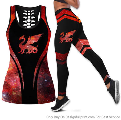 Dragon Tank Top And Legging Set