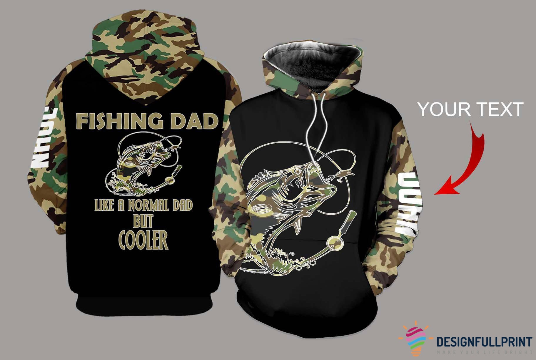 Fishing Dad bass US Unisex Size Personalized Hoodie