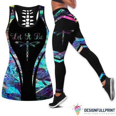 Dragonflies Tank Top And Legging Set