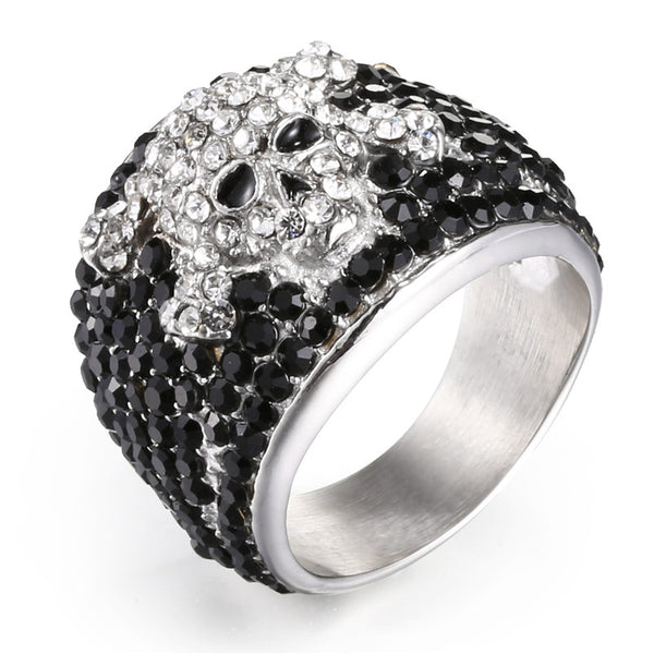 316 Stainless Steel Rock Punk Skull Ring