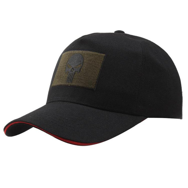 Patch Skull Cap Black Embroidery US Army Baseball Cap Men Casual Cotton