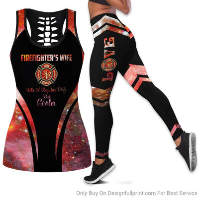 Firefighter Wife Fire Wife Tank Top And Legging Set
