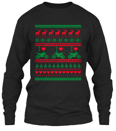 Dirt Bike Christmas Sweater Ultra Cotton Shirt