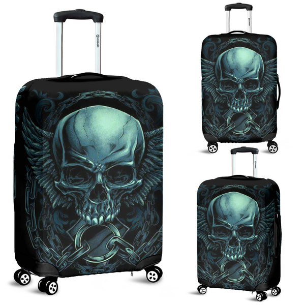 Skull 3D Art Luggage Cover 006 - designfullprint
