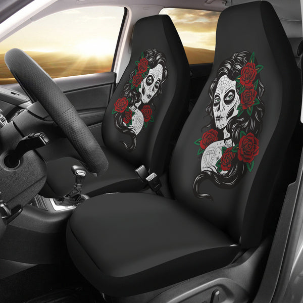 Sugar Skull Girl Universal Seat Cover
