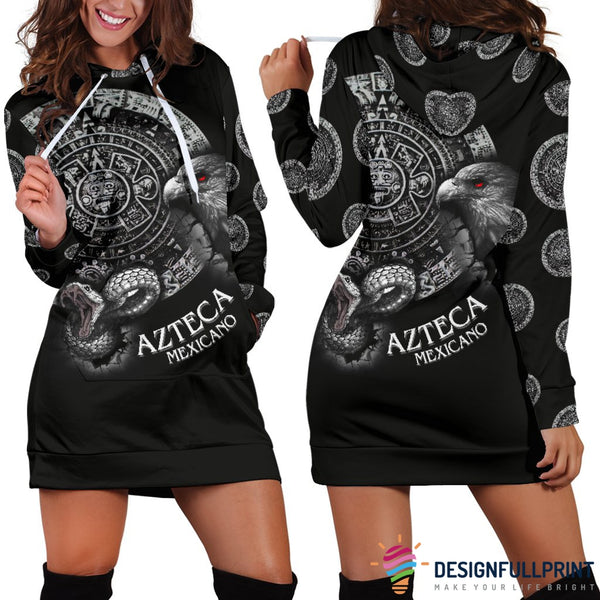 Mexican Patriotic Hoodie Dress - designfullprint