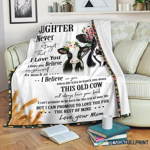 Mom to Daughter Farm Cow Premium Blanket