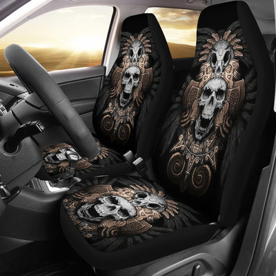 Universal Fit Polyester Fabric 3D Skull Car Seat Cover Set 007