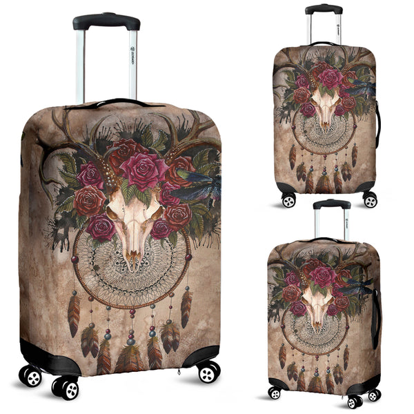 3D Deer Skull Dreamcatcher Luggage Cover 010 - designfullprint