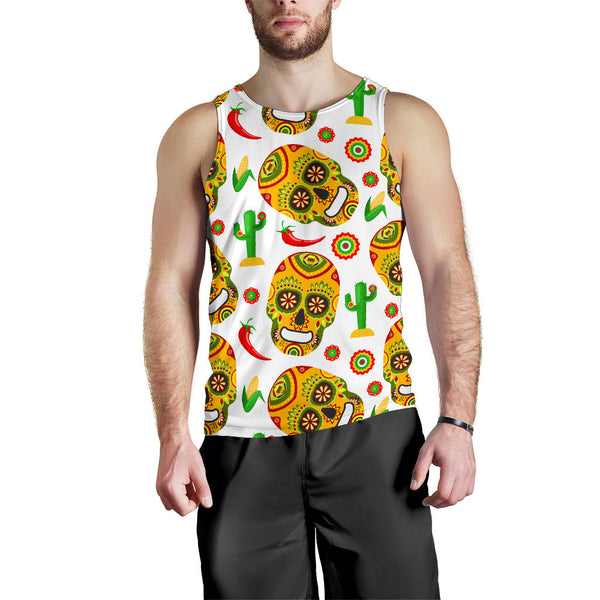 Mexican Sugar Skull All Over Tank Top