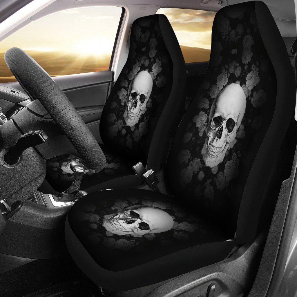 3D Skull Car Seat Covers 002