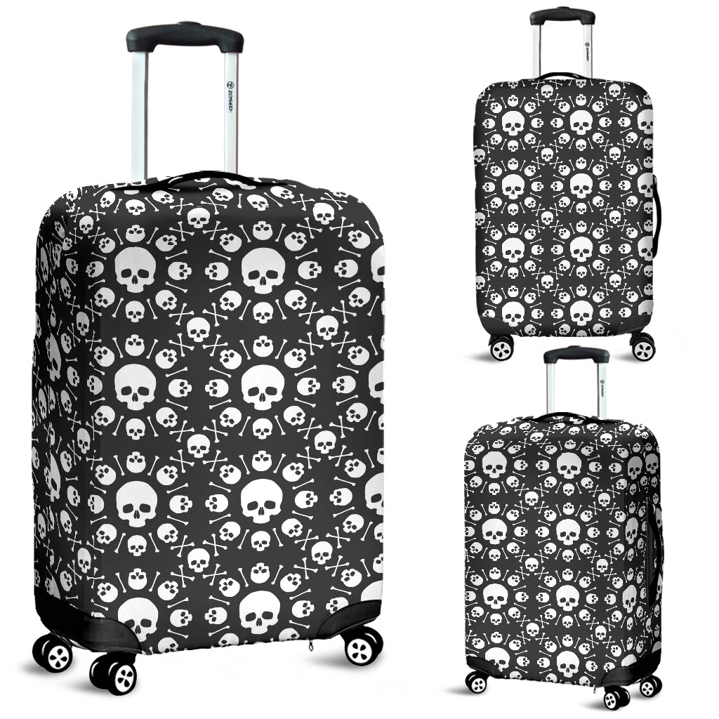 Washable Spandex Skull Print Luggage Cover 003