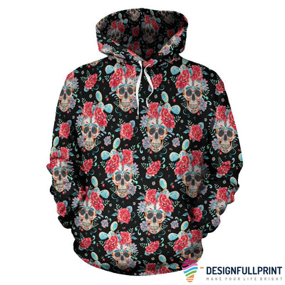 Red & Black Skull Hoodies