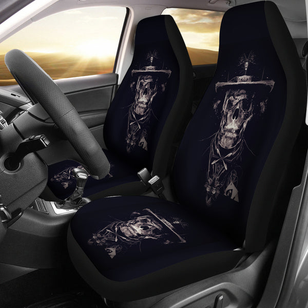 3D Skull Car Seat Covers 004 - designfullprint