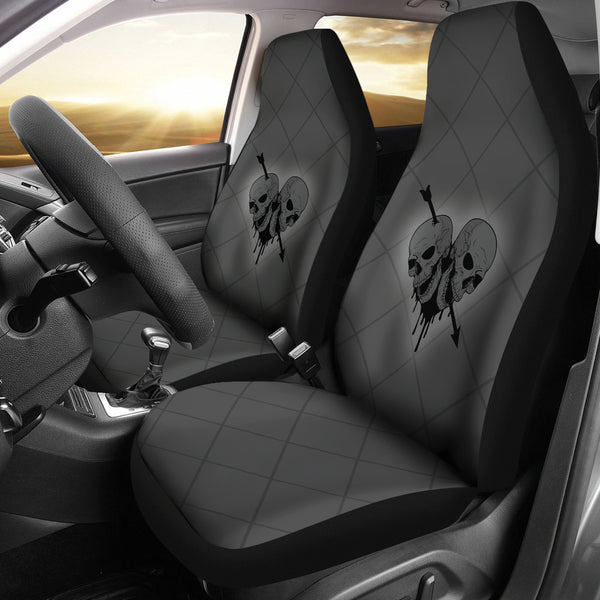 Heart Skull Car Seat Covers