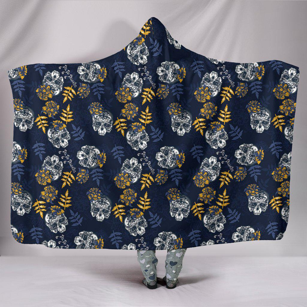 Ultra Soft Wool 3D Skull Hooded Blanket 007