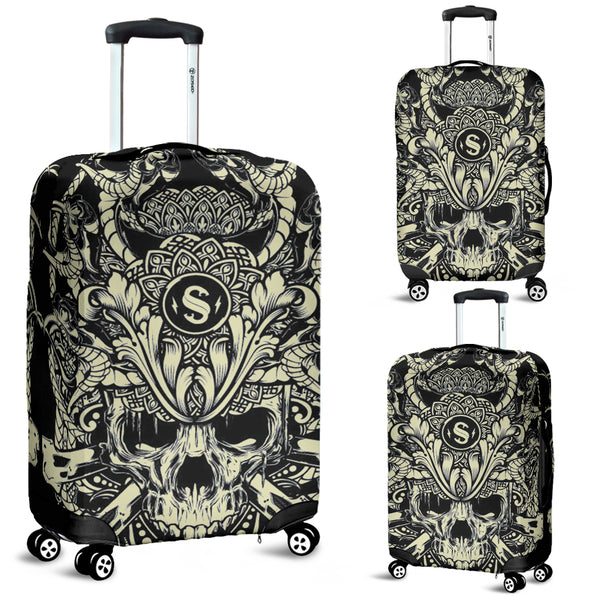 Skull 3D Art Luggage Cover 003 - designfullprint