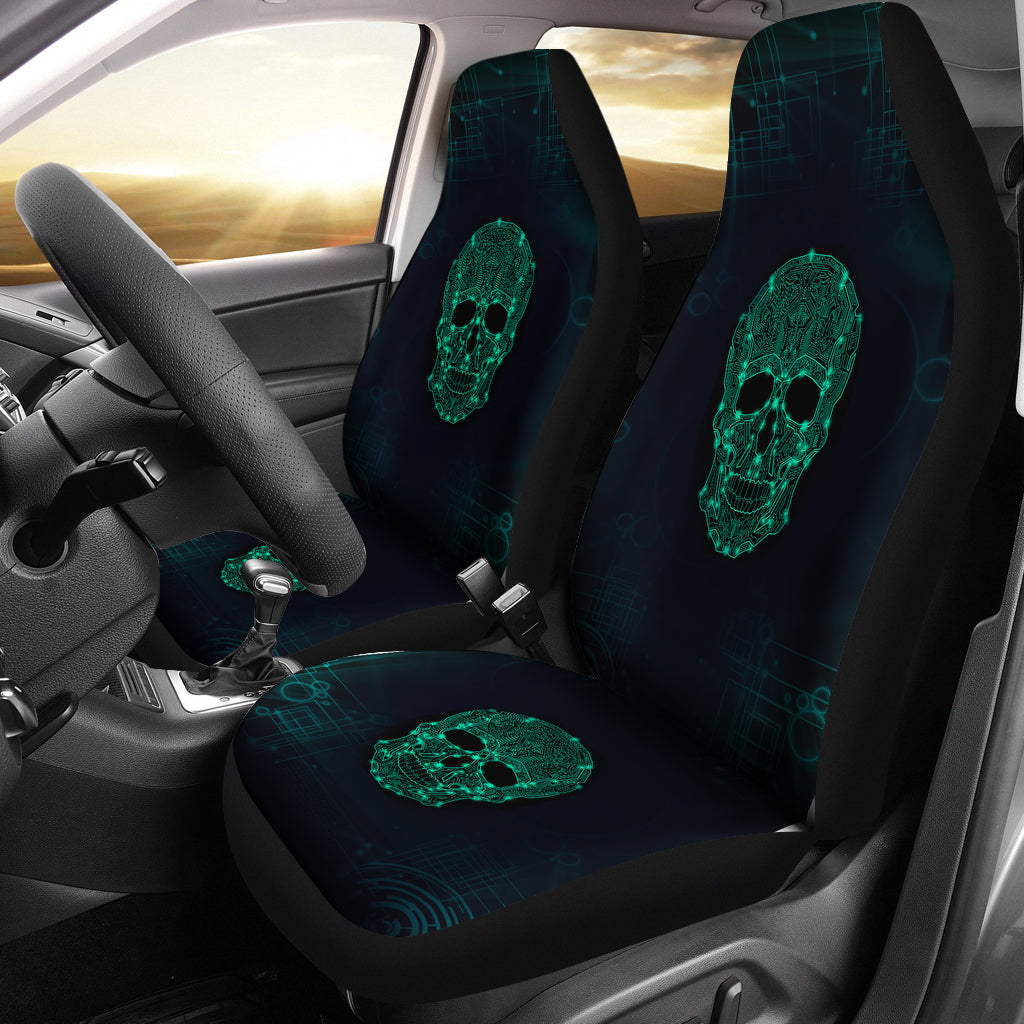 Universal Fit Polyester Fabric 3D Skull Car Seat Covers 005