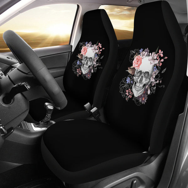 New Flowers & Skulls Car Seat Covers