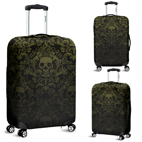 Skull 3D Art Luggage Cover 004 - designfullprint