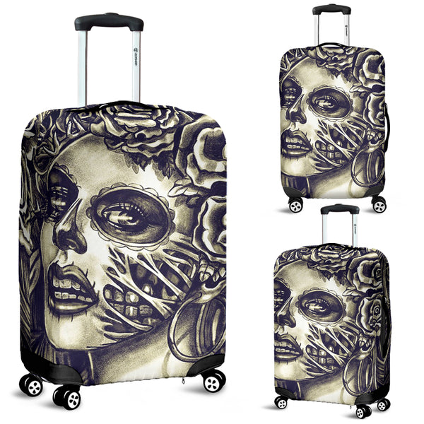 Skull 3D Art Luggage Cover 002 - designfullprint