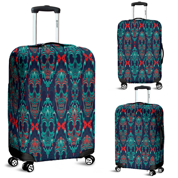 NP Skull Luggage Cover - designfullprint