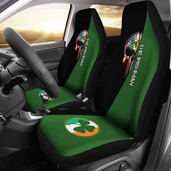 Irish Skull Universal Car Seat Cover